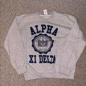 AXID alpha xi delta crest sweatshirt